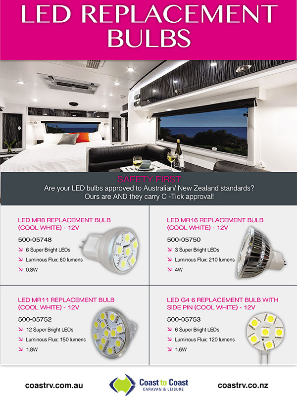 LED replacement bulbs brochure