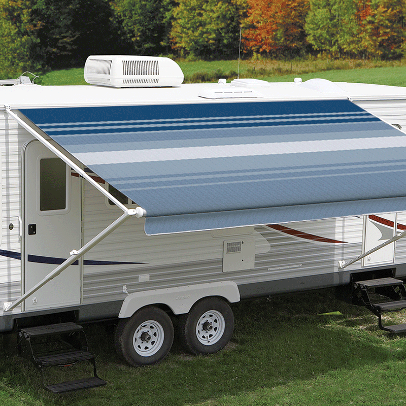 13ft Ocean Blue Dune Roll Out Awning (No Arms)
