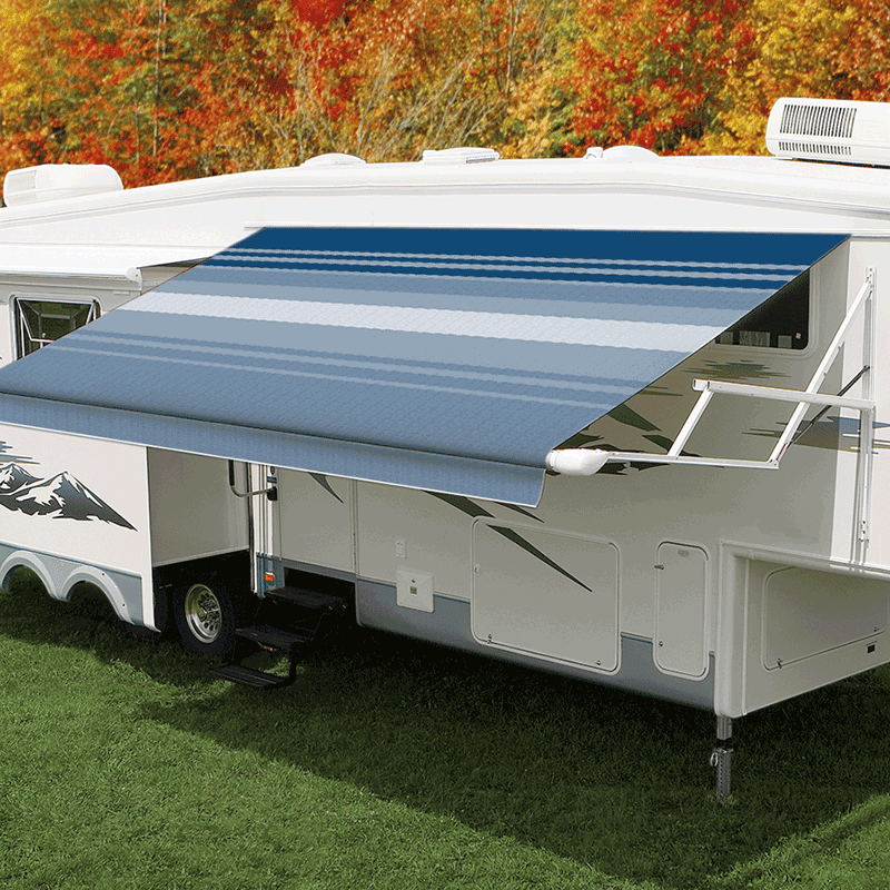 16ft Ocean Blue Dune Roll Out Awning (No Arms)