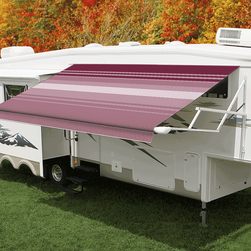 16ft Bordeaux Dune Roll Out Awning (No Arms)