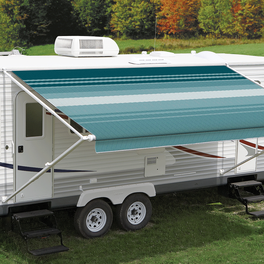 12ft Teal Dune Roll Out Awning (No Arms)