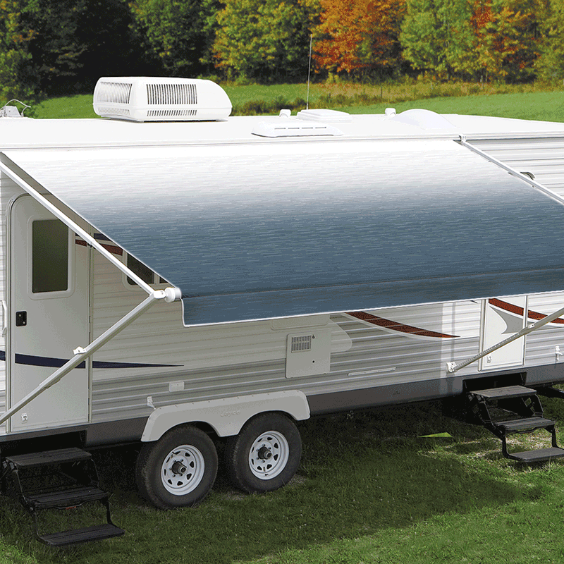 18ft Blue Shale Fade Roll Out Awning (No Arms)