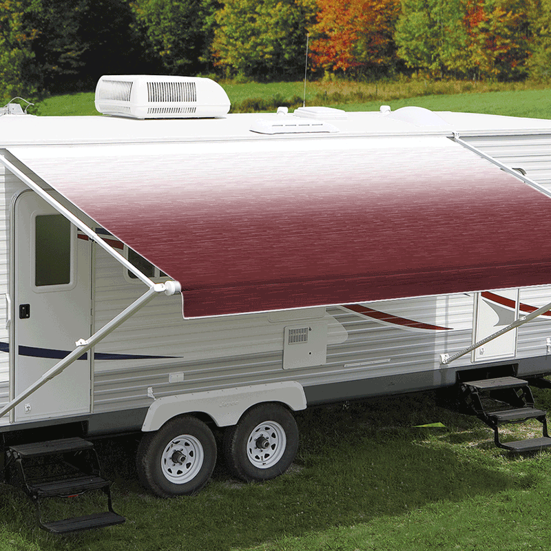 18ft Burgundy Shale Fade Roll Out Awning (No Arms)