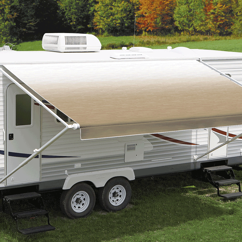 17ft Camel Shale Fade Roll Out Awning (No Arms)