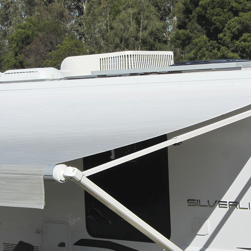 15ft Silver Shale Fade Roll Out Awning (No Arms)
