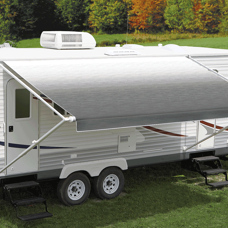 Carefree 18' Eclipse 12V Silver Shale Fade Awning (No Arms)