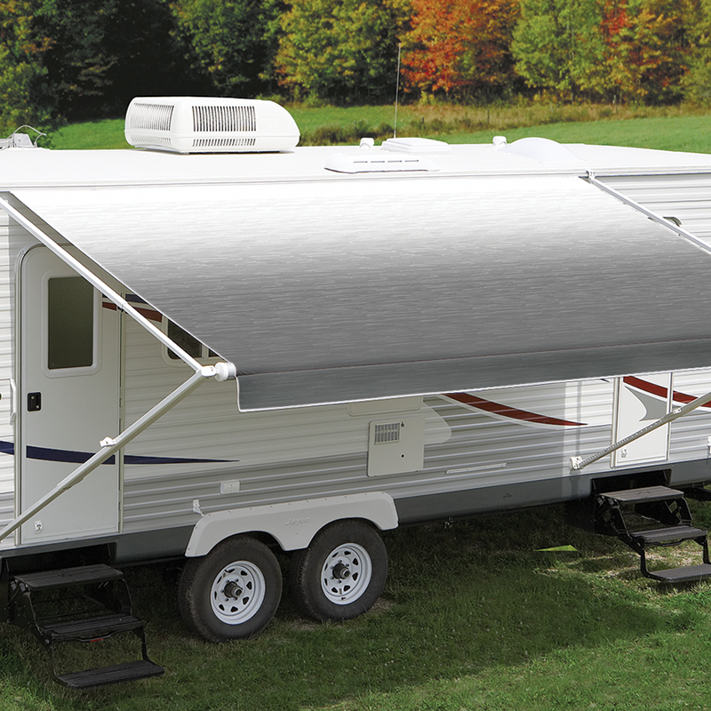 Carefree 16ft LED Silver Shale Fade Roll Out Awning (No Arms)