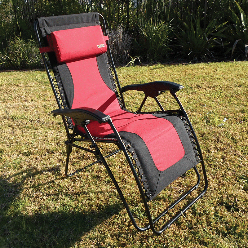 Coast Padded Red & Black Laguna Recliner