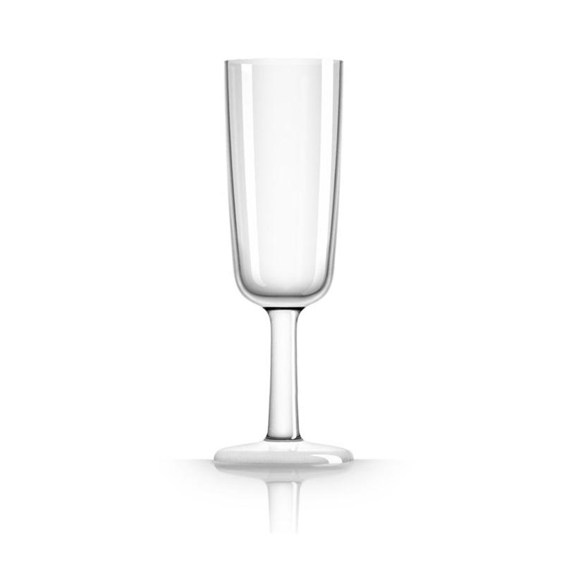 Palm Marc Newson Tritan Flute Glass w/ Clear Base 190ml