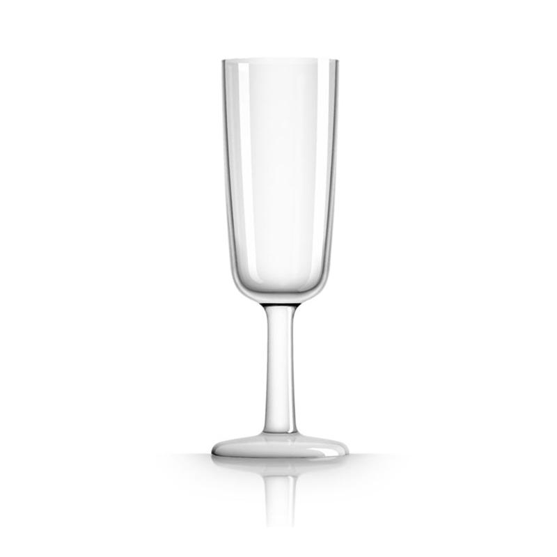 Palm Marc Newson Tritan Flute Glass w/ White Base 190ml