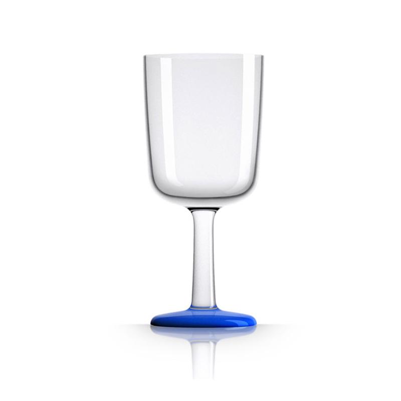 Palm Marc Newson Tritan Wine Glass w/ Navy Blue Base 300ml