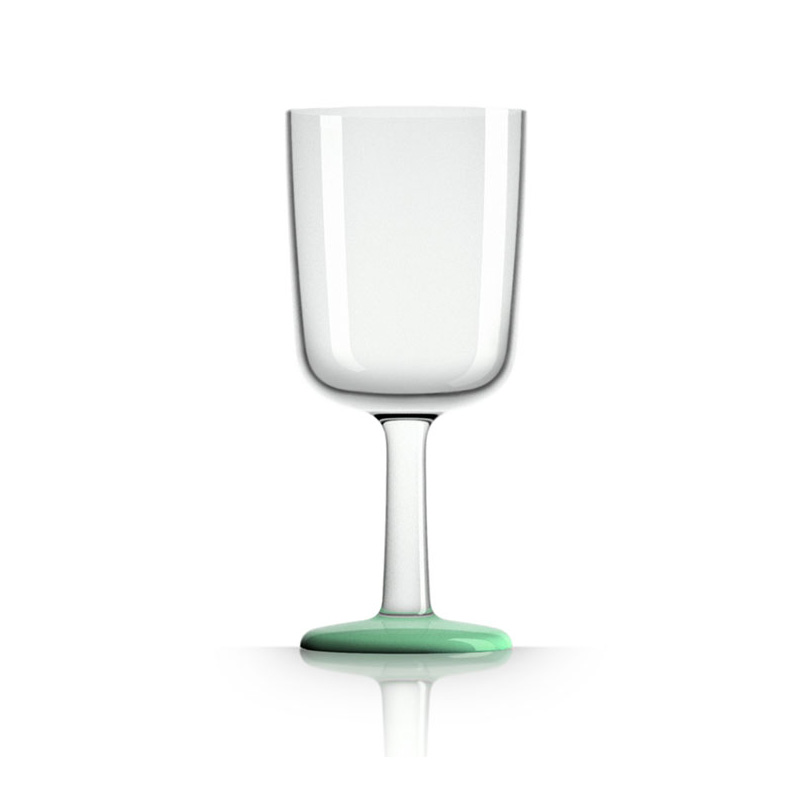 Palm Marc Newson Tritan Wine Glass w/ Green Glow In The Dark Base 300ml