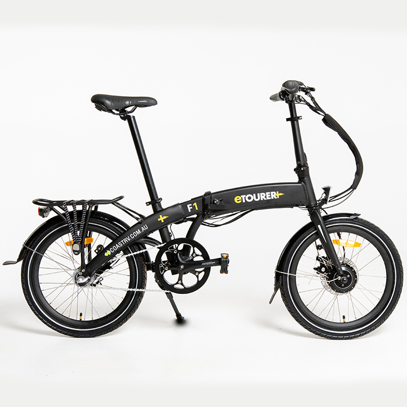 eTOURER F1 Folding E-Bike Std Model - Matt Black
