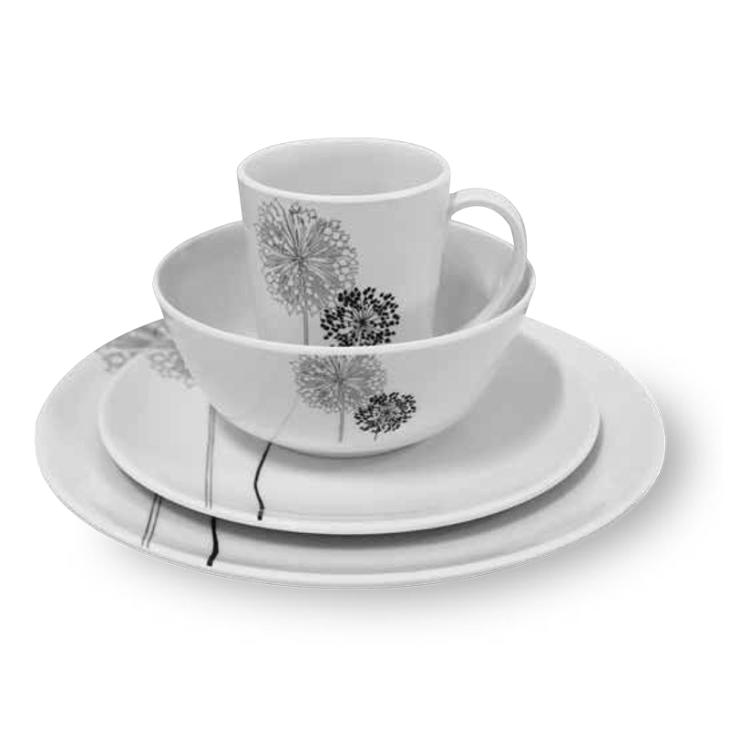 Coast 100% Melamine 16pcs Dinner Set - DANDELIONS