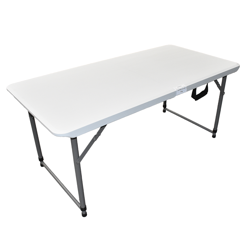 4' Bi-Folding Table with Telescopic Legs and One Touch Lock