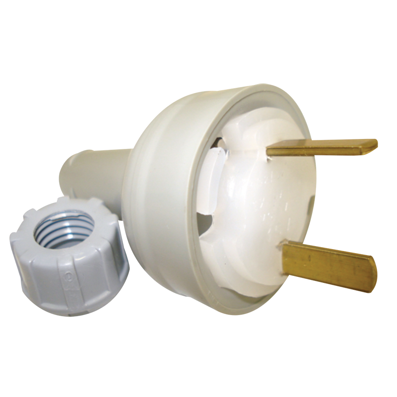 Clipsal 492/32 Fixed Polarity Plug Grey