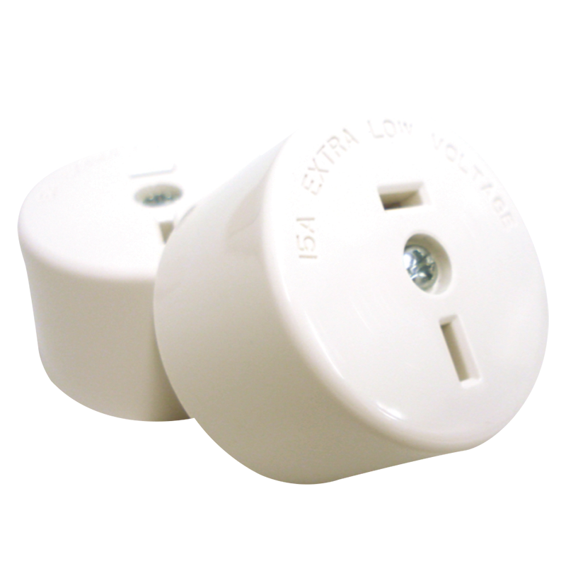 Fixed Polarity Socket White - 402/32