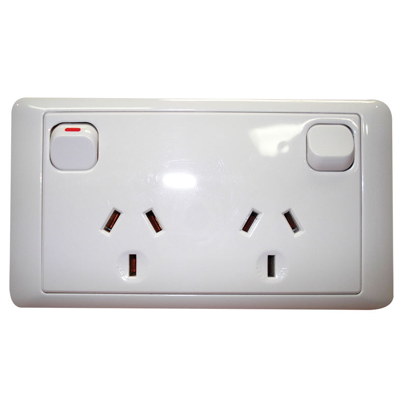 CMS Double Power Outlet - White.