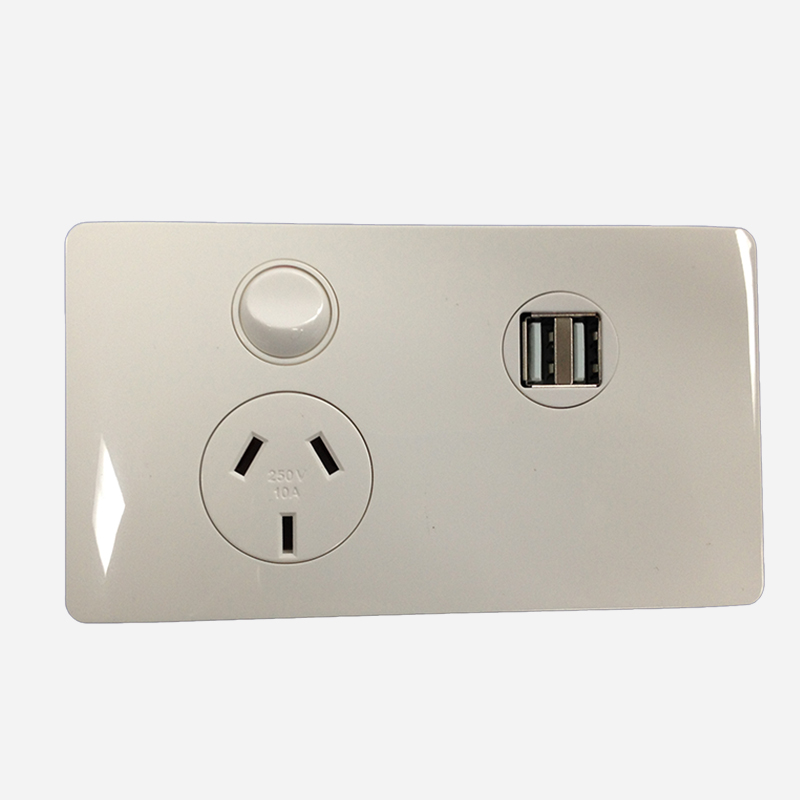 CMS Power Outlet Single With Dual Usb 12vdc Terminal