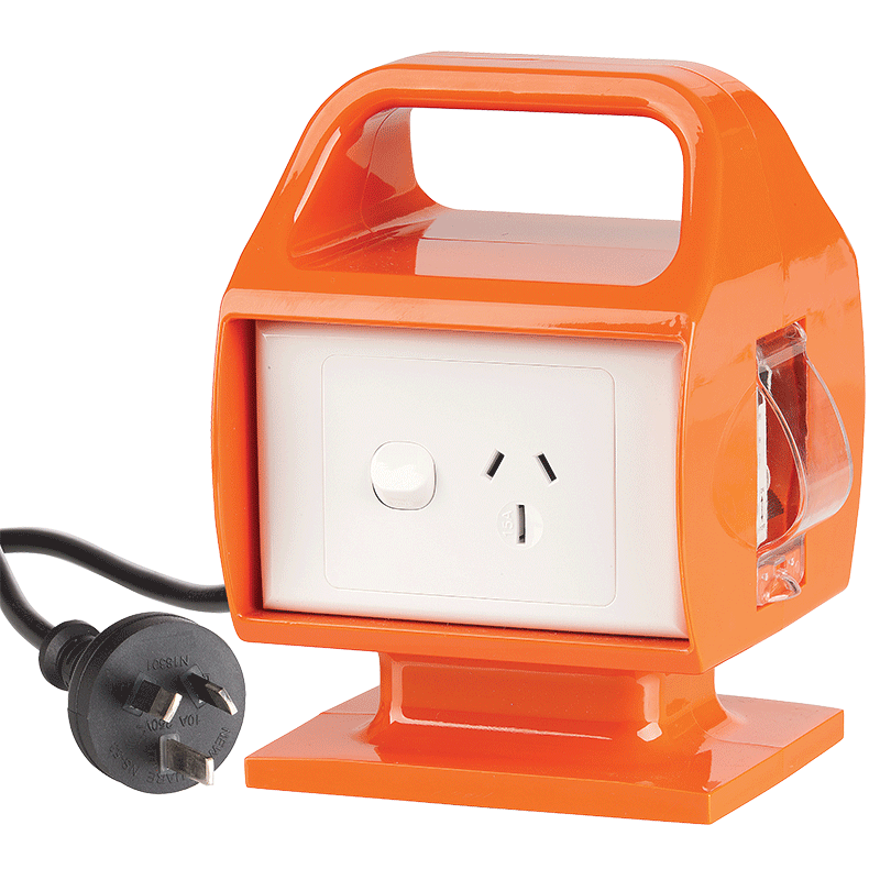 Portable RCD With 15A To 10A Mains Plug Conversion