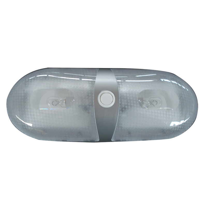 Silver Dual Interior Dome Light 12V