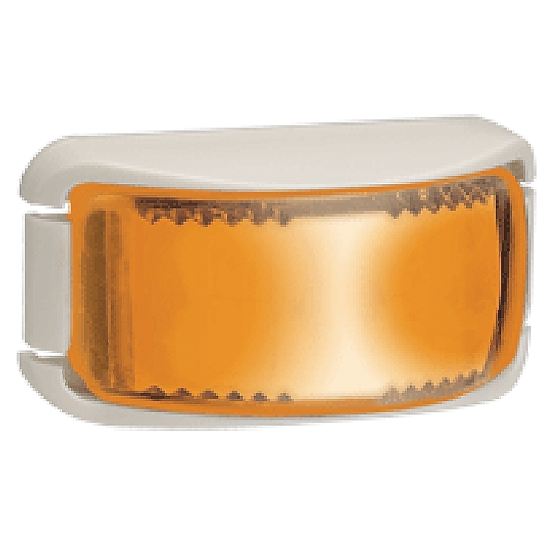 Narva L.E.D Side Indicator Lamp Amber - White Base.