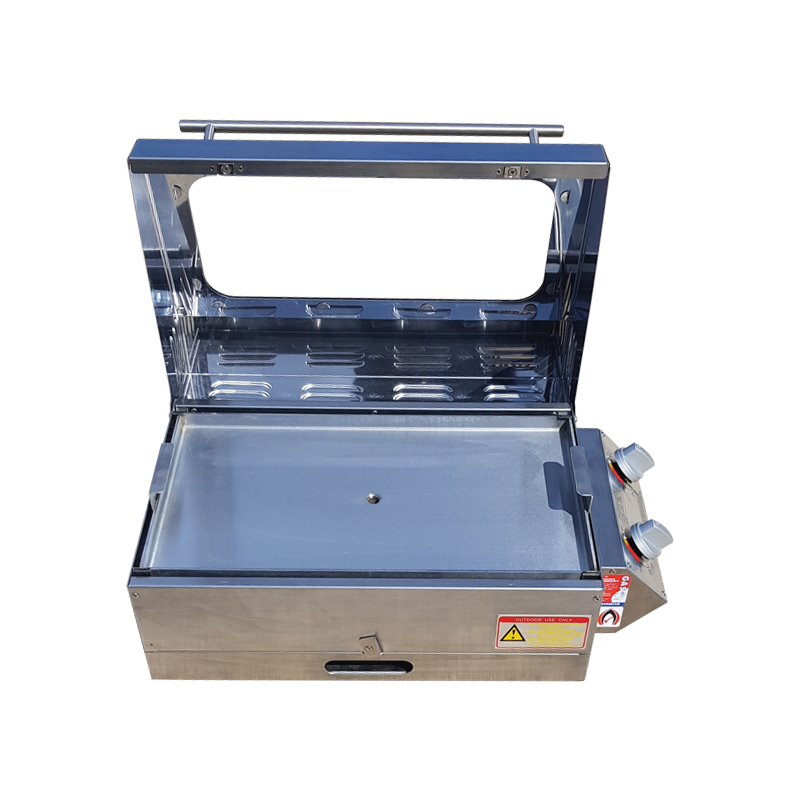 Sizzler Deluxe 2.0 Steel BBQ with High Lid with Flame Failure
