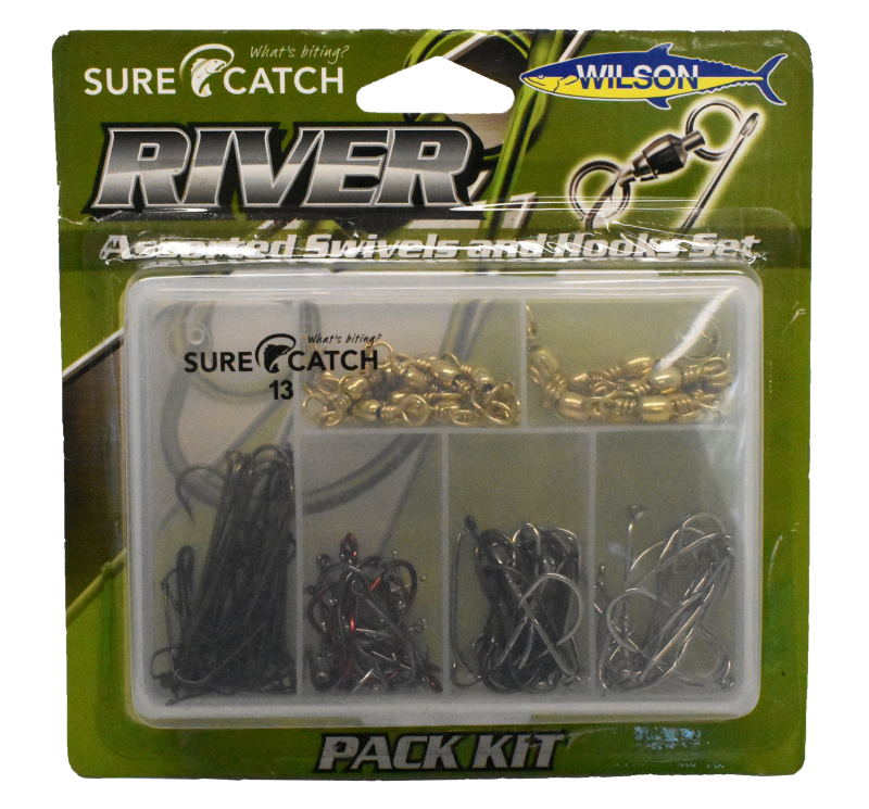 Sure Catch Hook & Swivel River Pack