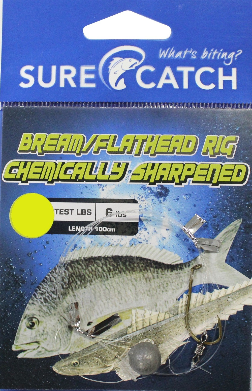 Sure Catch Bream & Flathead Rig Chem/Sharp - Size 2
