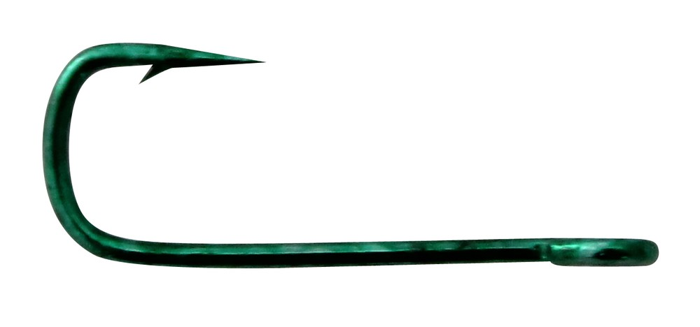 Mustad Chem/Sharp Green Needle Sneck Weed Hook (18 per Pack) - Size 8