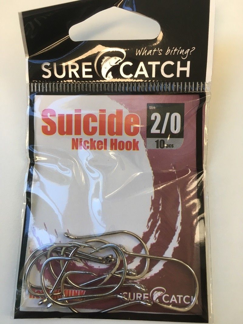 Sure Catch Suicide Hook (10 Per Pack) - Size 2/0