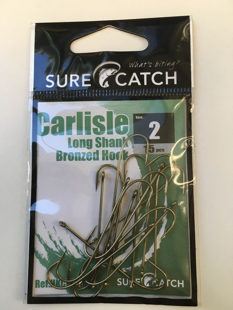 Sure Catch Bronze Carlisle Long Shank (15 per Pack) - Size 2