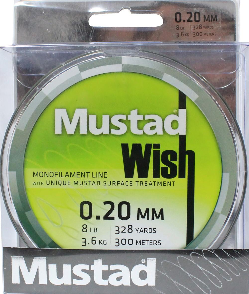 Mustad Premium WISH Monofilament Fishing Line 300m Smoke - 8lb