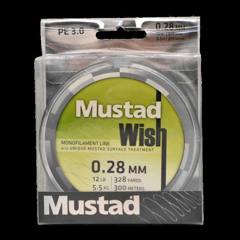 Mustad Premium WISH Monofilament Fishing Line 300m Smoke - 12lb
