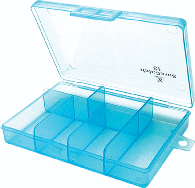 Sure Catch Sml 6 Compartment Tackle Tray - 197mm x  83mm x 25mm