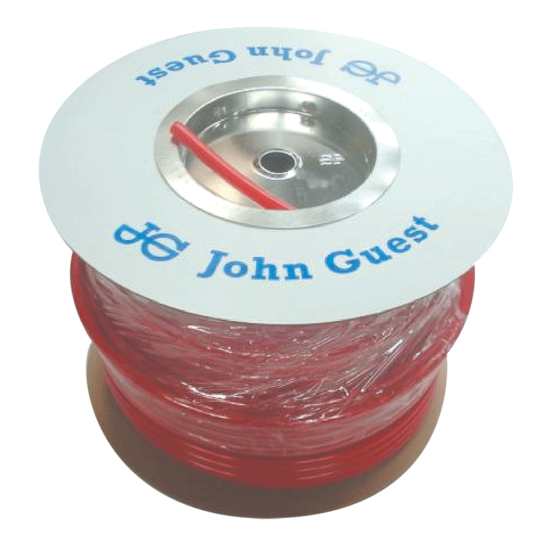 John Guest Red 12mm x 100m Roll of Tubing