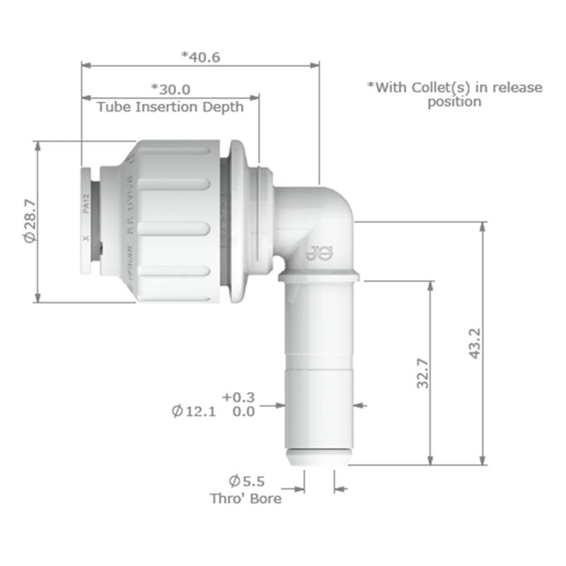 JG Watermark 12mm Stem Elbow