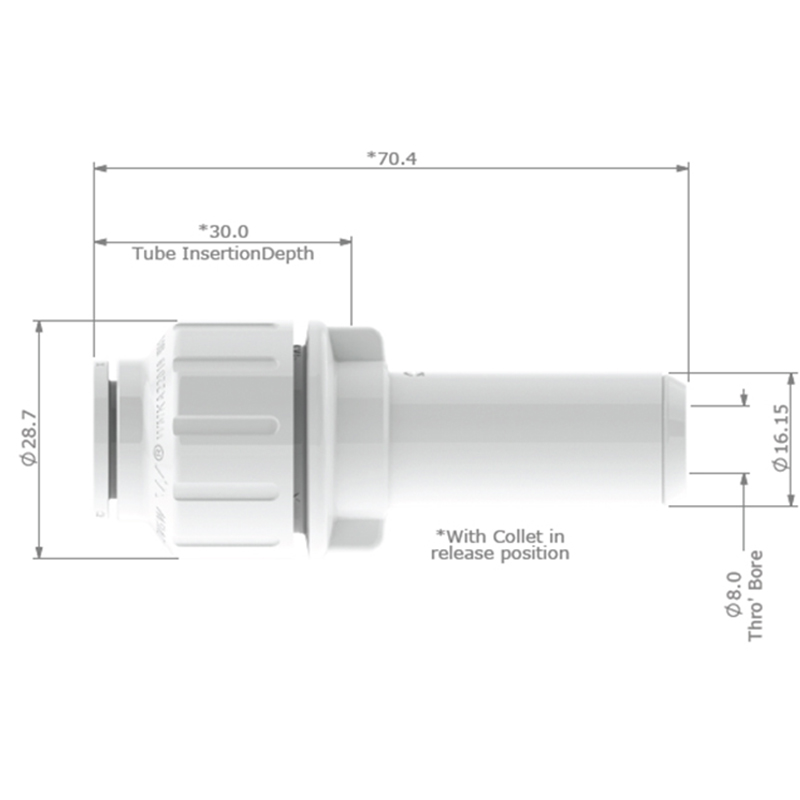JG Watermark 12mm Stem Reducer