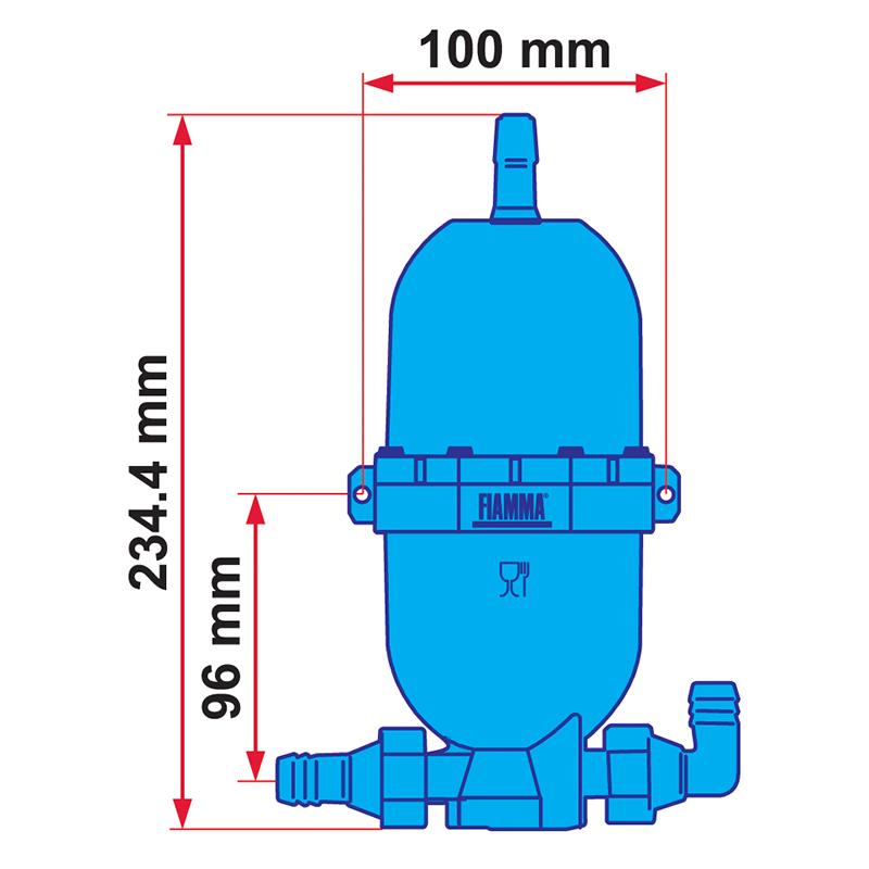 Fiamma A20 Accumulator Tank