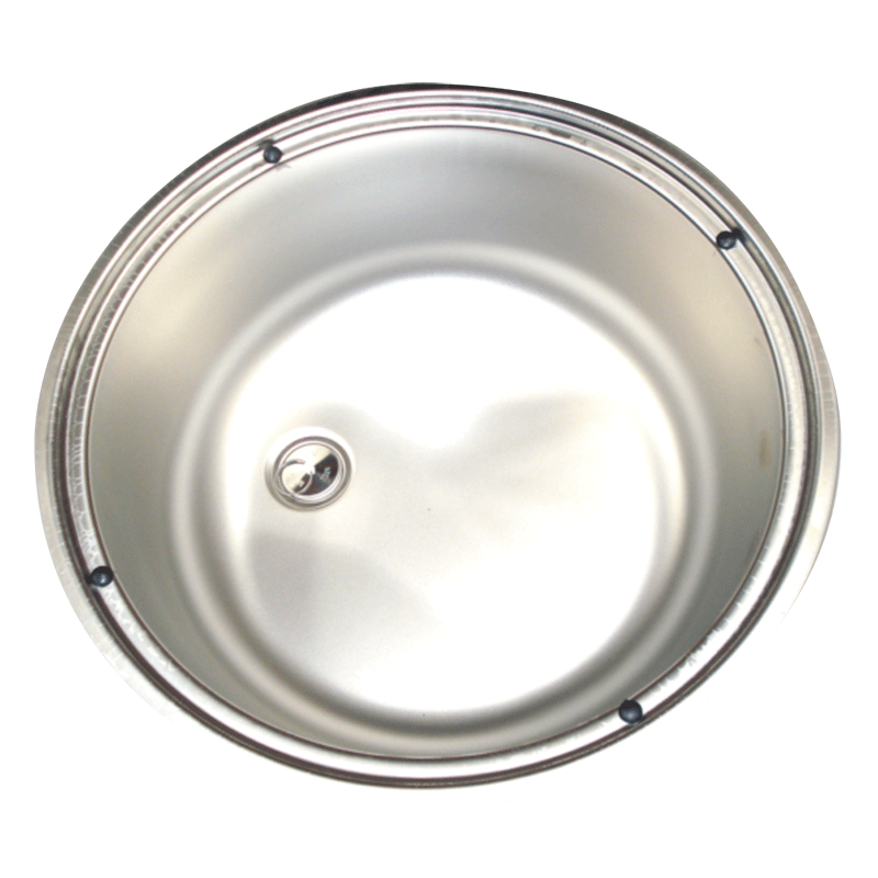 Smev Stainless Steel Round Sink 400mm Diameter