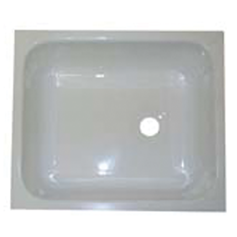 White Acrylic Rectangular Bowl 333mm x 284mm