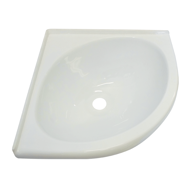 White Acrylic Corner Sink Bowl