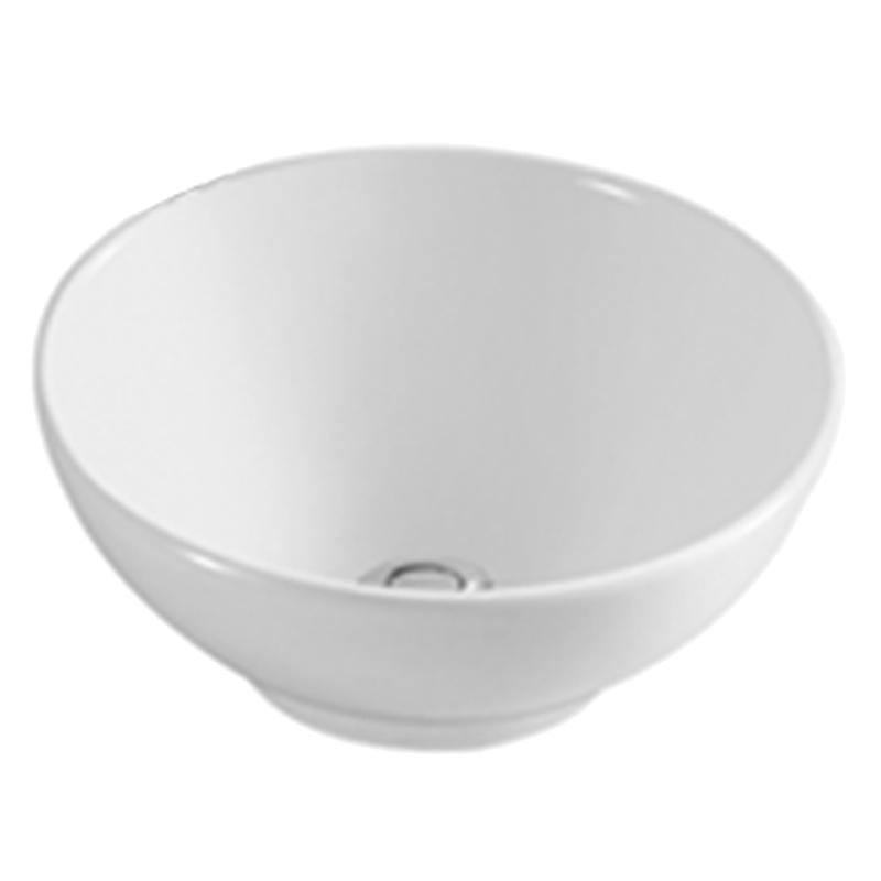 White Round Ceramic Bathroom Basin