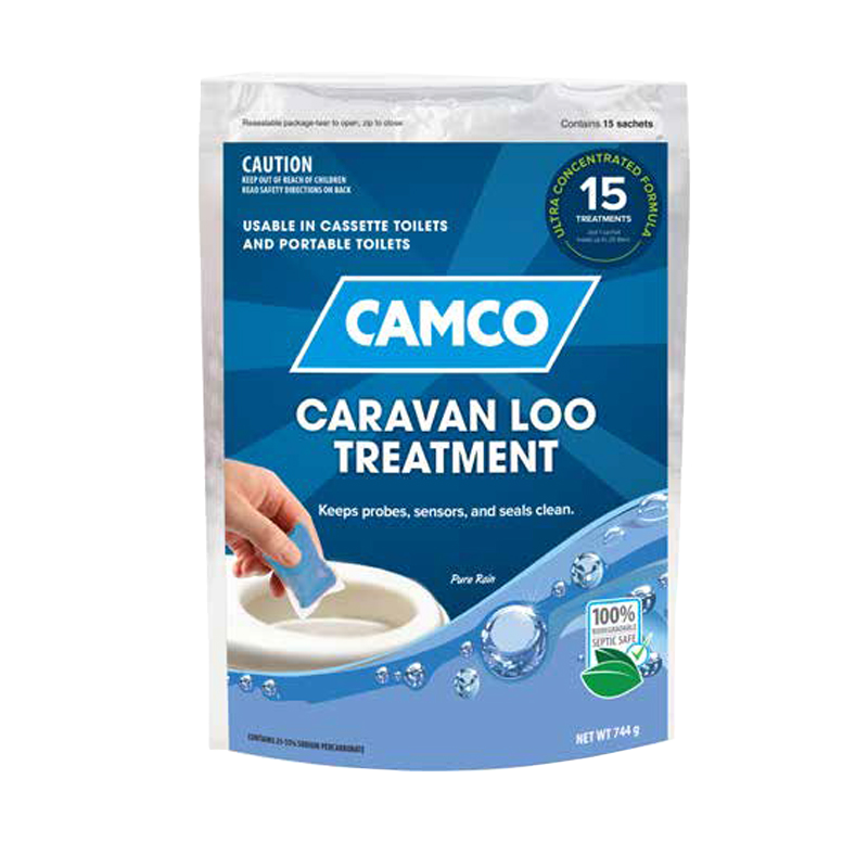 Camco Caravan Loo Treatment Pure Rain Scent - 15 Drop-Ins