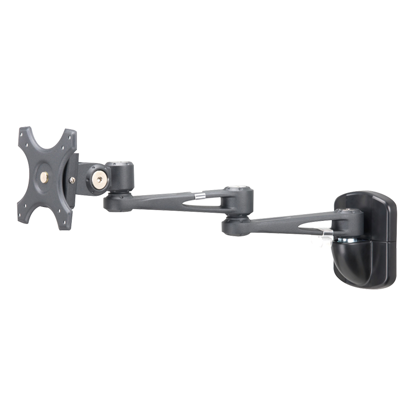 Sphere Double Arm Wall Mount Monitor Bracket Black