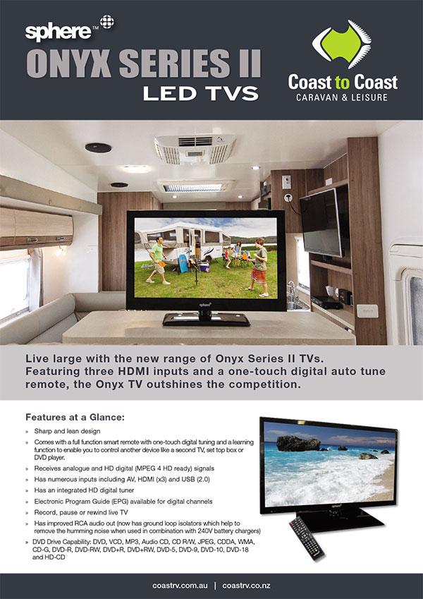 SPHERE ONYX SERIES LED TVs