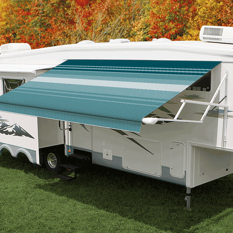 16ft Teal Dune Roll Out Awning (No Arms)