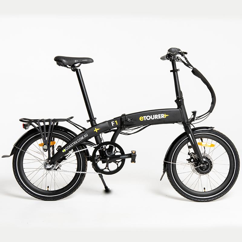 eTOURER F1 Folding E-Bike Std Model - Matt Black