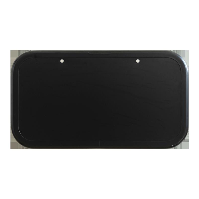 Caravan Picnic Table Black 4RC & Backing Plate - 800 x 445mm