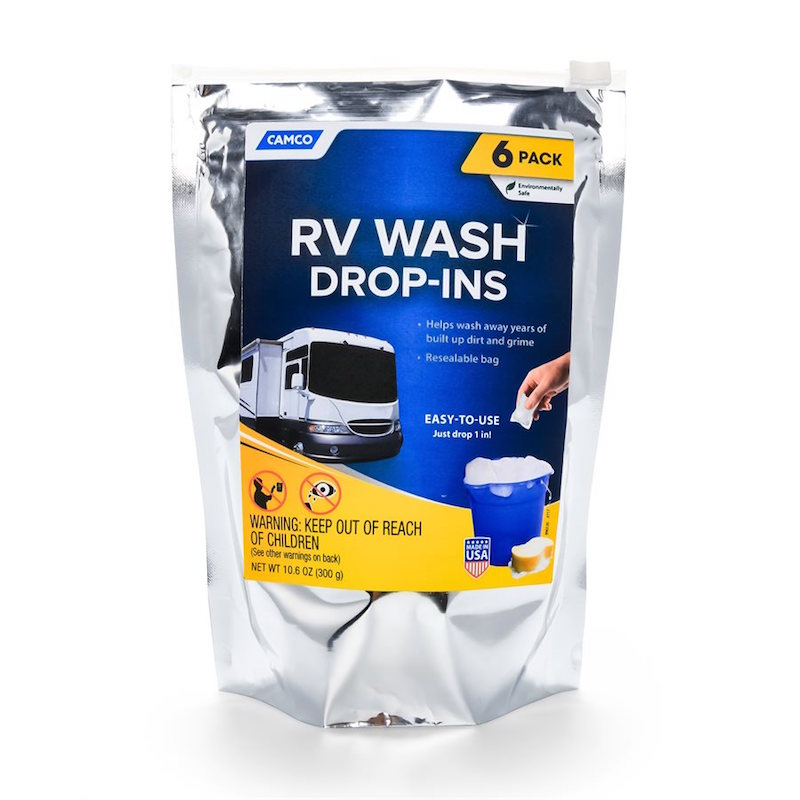 CAMCO RV WASH PODS - 6 DROP-INS PER PACK